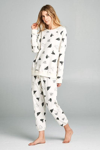 Dino Print Pajama Set - No Fashion Deadlines