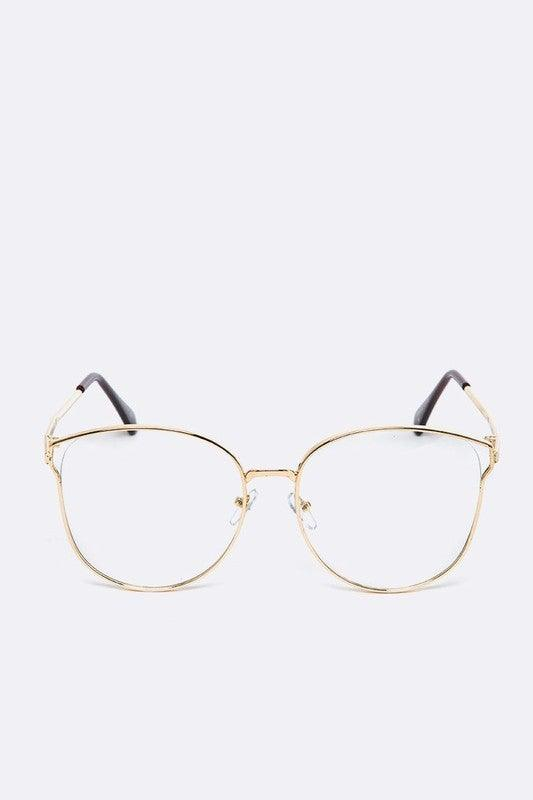 Clear Lens Thin Frame Fashion Glasses - No Fashion Deadlines