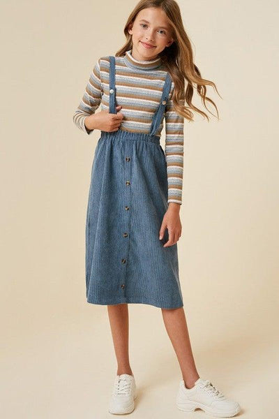 Button-Down Overall Midi Dress - No Fashion Deadlines