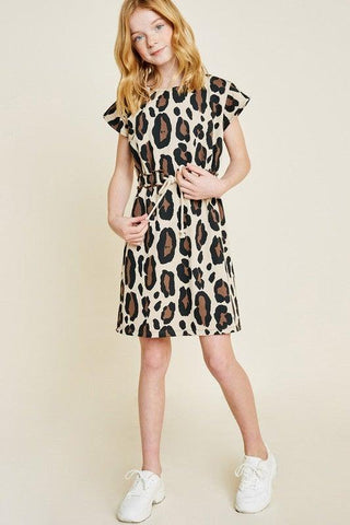 Girls Leopard French Terry Dress