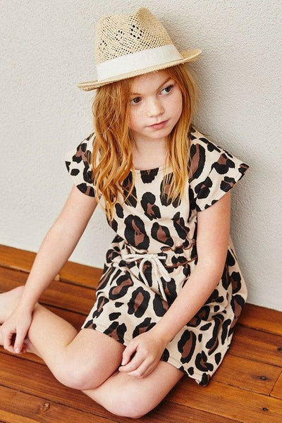 Girls Leopard French Terry Dress - No Fashion Deadlines