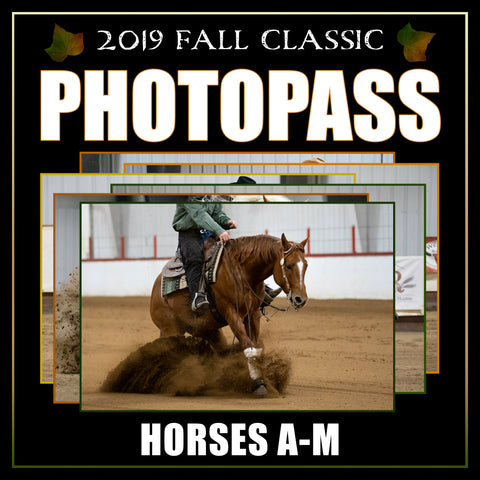 2019 Reining Alberta Fall Classic Photo Pass | Horses A-M
