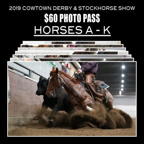 2019 Cowtown Derby Photo Pass | Horses A-K