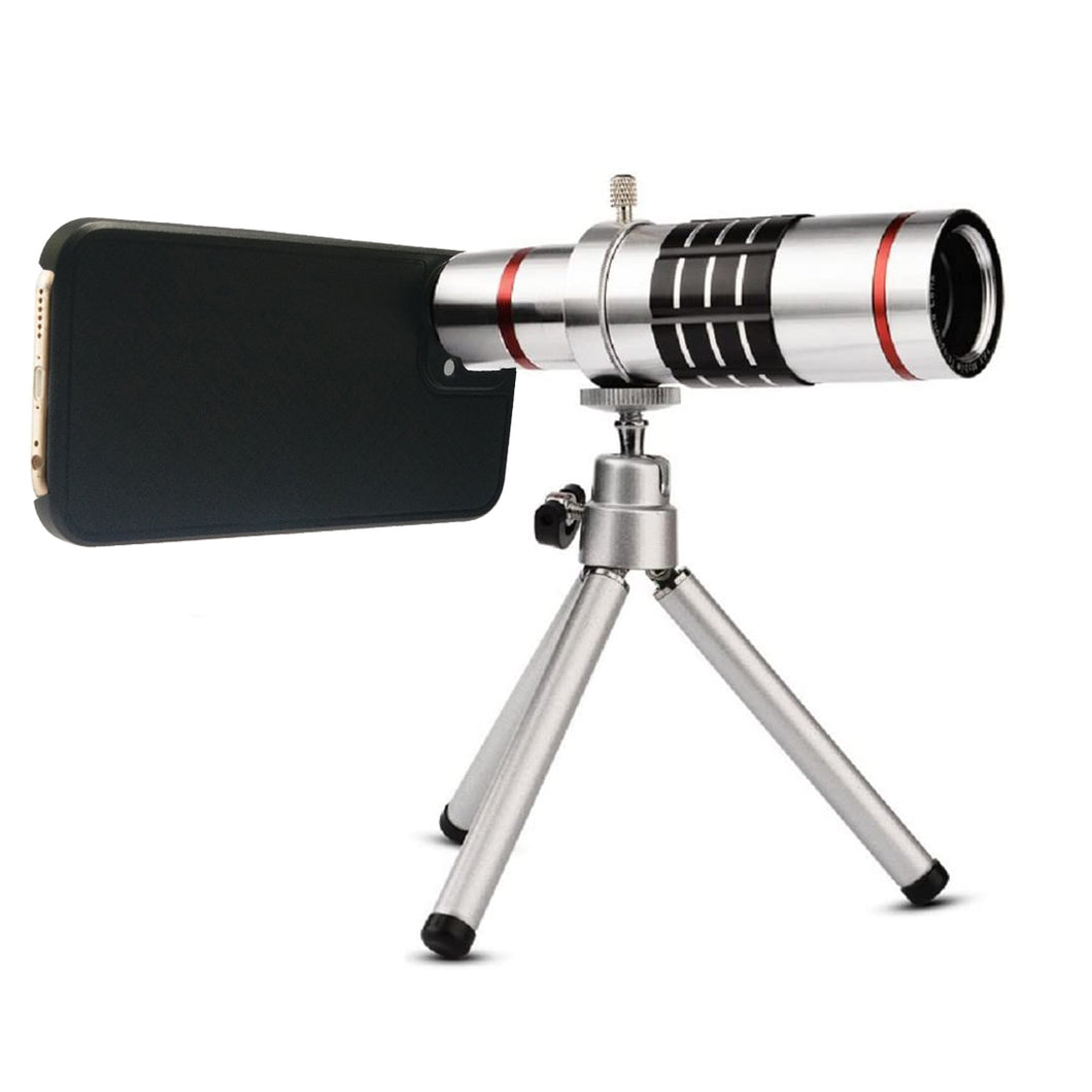 18x Optical Zoom Mobile Lens Kit Telescope Lens with Tripod, Back case/Cover compatible with Iphone12