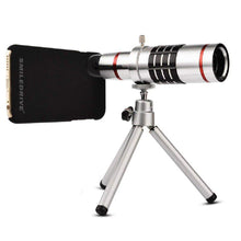 Load image into Gallery viewer, 18x Optical Zoom Mobile Lens Kit Telescope Lens with Tripod, Back case/Cover compatible with iPhone XR