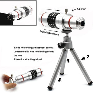 18x Optical Zoom Mobile Lens Kit Telescope Lens with Tripod, Back case/Cover compatible with iPhone XR