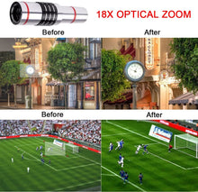 Load image into Gallery viewer, 18x Optical Zoom Mobile Lens Kit Telescope Lens with Tripod, Back case/Cover compatible with Iphone12