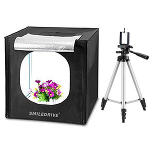 Photo Studio Light Box Product Photography 43 sq cm Lighting Tent with 2 LED-Made in India Photo Booth with a Tripod