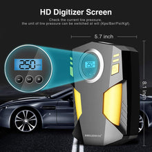 Load image into Gallery viewer, Smiledrive Tyre Inflator Pump for Car Bike Tire Air Pressure Monitor Compressor-12v