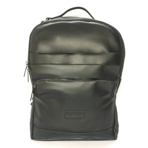 Foam Leather Laptop Backpack Black Business Travel Bag School College Backpacks Fits 15inch Laptop - MADE IN INDIA