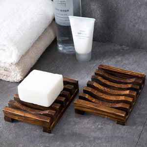 Smiledrive Soap Saver Holder Wooden Dish for Bathroom Kitchen Sink Teak Wood - Brown