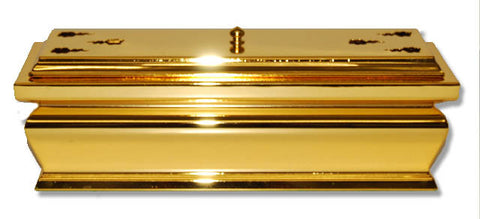 "12.5"" Long 24K Gold Plated Incense Burner with Cover"