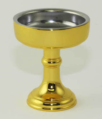 24K Gold Plated Rice Cup with Removable Metal Insert