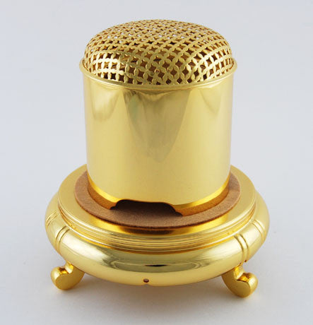 Large 24K Plated Powdered Incense Burner
