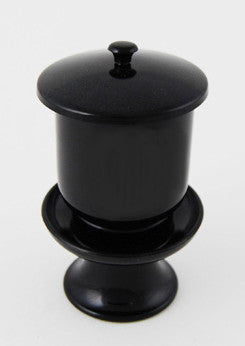 Black (Ceramic / Plastic) Water Cup