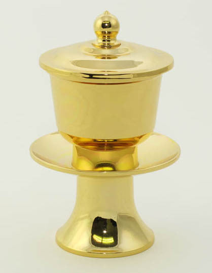 Gold Water Cup with Removable Metal Insert
