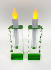 "6.2"" H Premium Crystal candle holders or Vases"