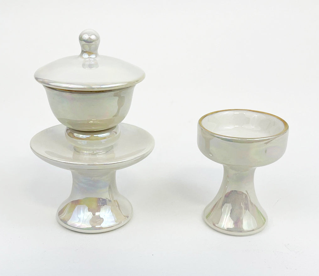 Mother of Pearl Water & Rice Cup Set
