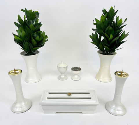 7 Piece White Pearl Butsugu Set