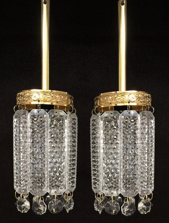 Small Crystal Hanging Lanterns