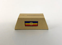 S.G.I. Flag Brass Card Stand #1