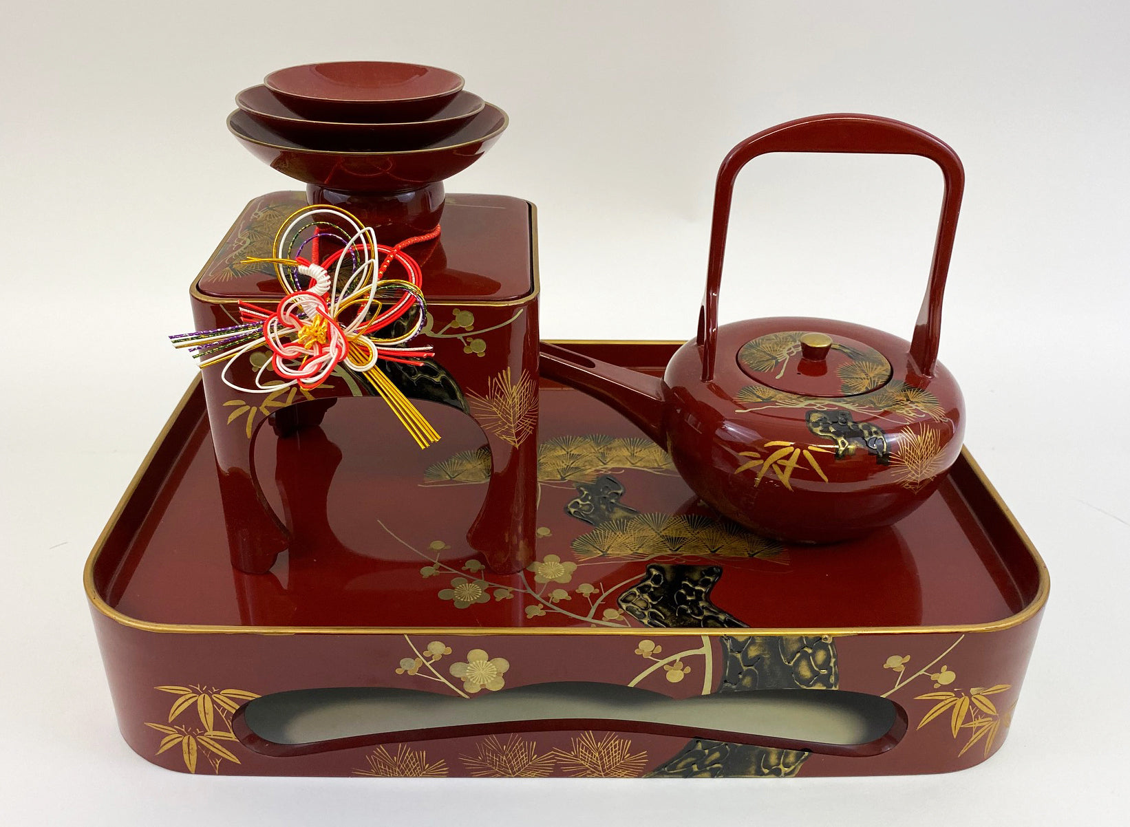 Sake Wedding Set with a Tray - Sansankudo Ceremony (Display Model) #2
