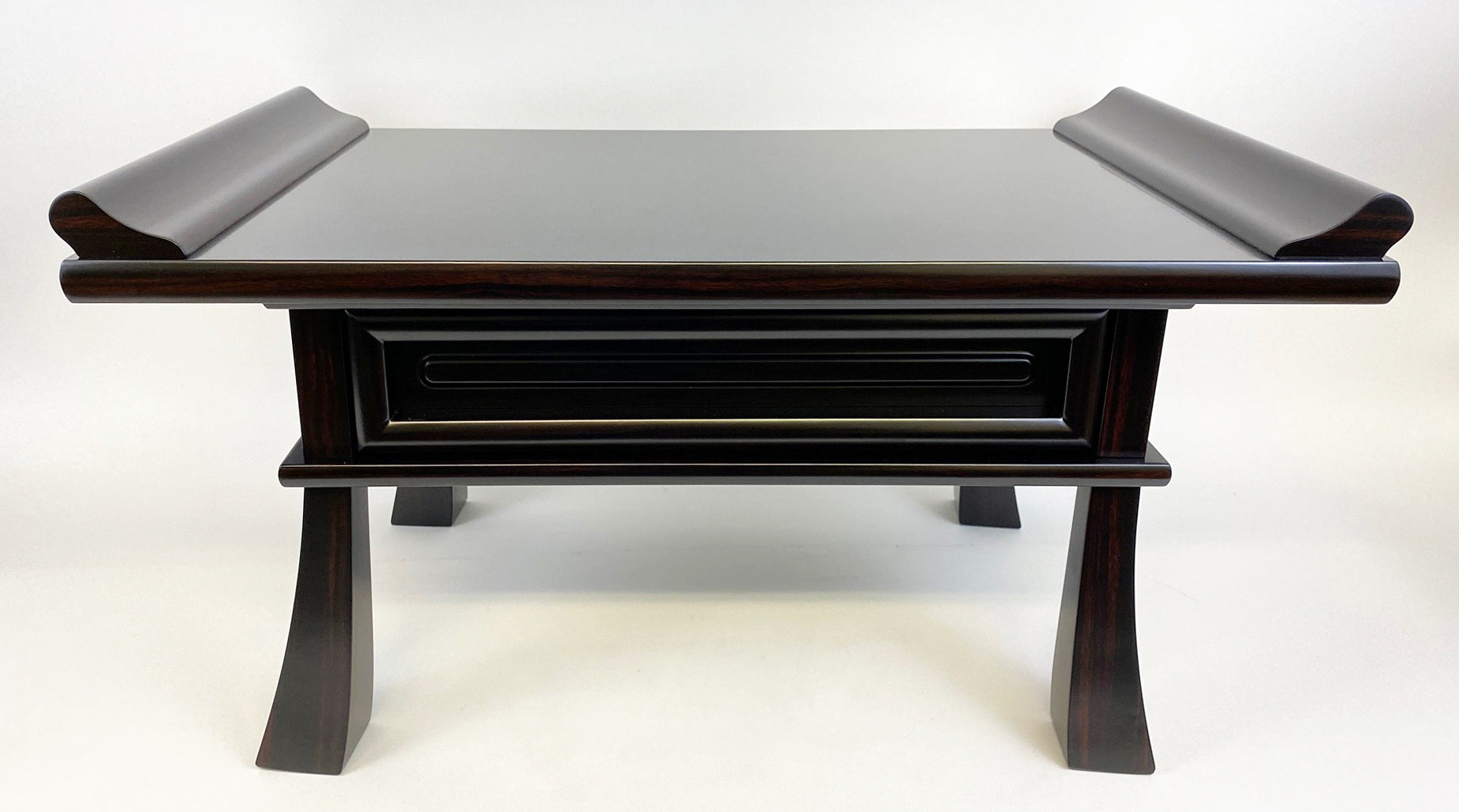 #20 Ebony Kyo Table with Pull-out Drawer