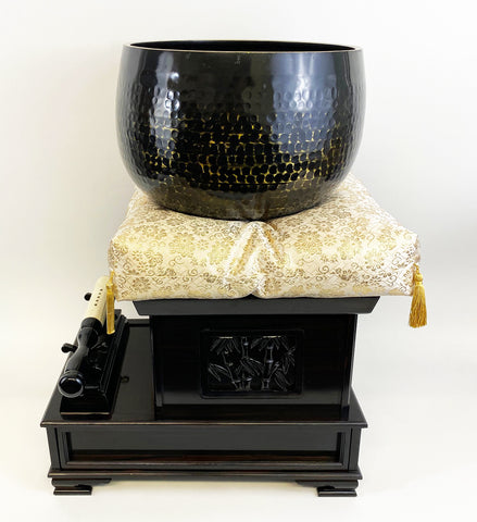 "Used No. 10 Bell (13"" Diameter) with Gold Cushion with Ebony Base"