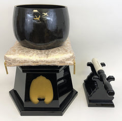 "No. 9 Bell (10.5"" Diameter) with Gold Cushion and Black Lacquer Set (Display model)"
