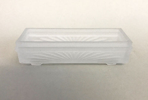 "7"" Long Frosted Glass Incense Burner"