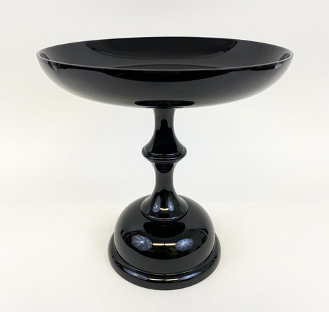 Extra Large Round Black Fruit Dish