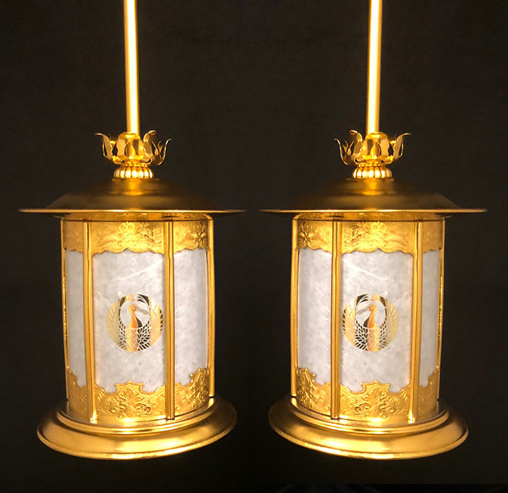 Large Golden Hanging Lanterns
