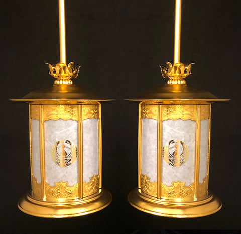 Electric Large Golden Hanging Lanterns(Display Model)