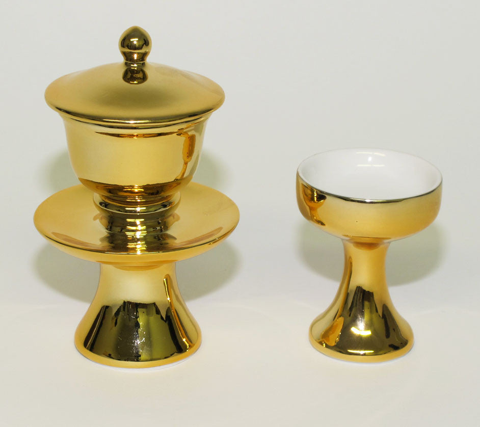 Gold Water & Rice Cup Set