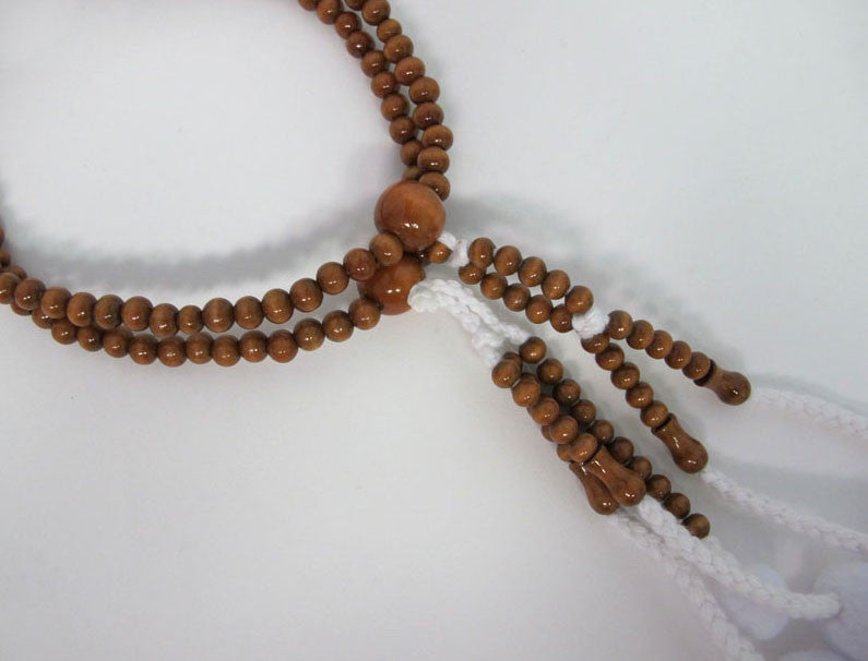 Brown Plum Wood Beads
