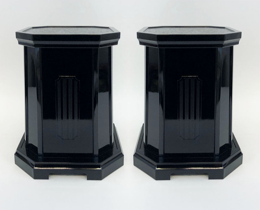 "12"" Tall Black Vase Stands"