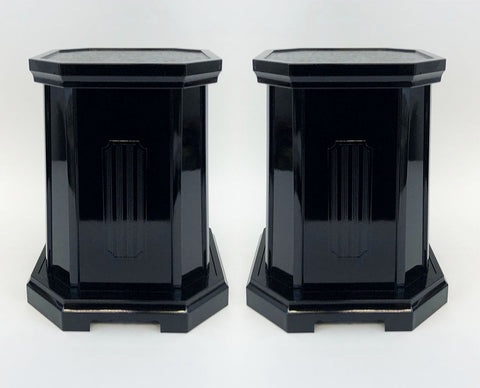 "10"" Tall Black Vase Stands"