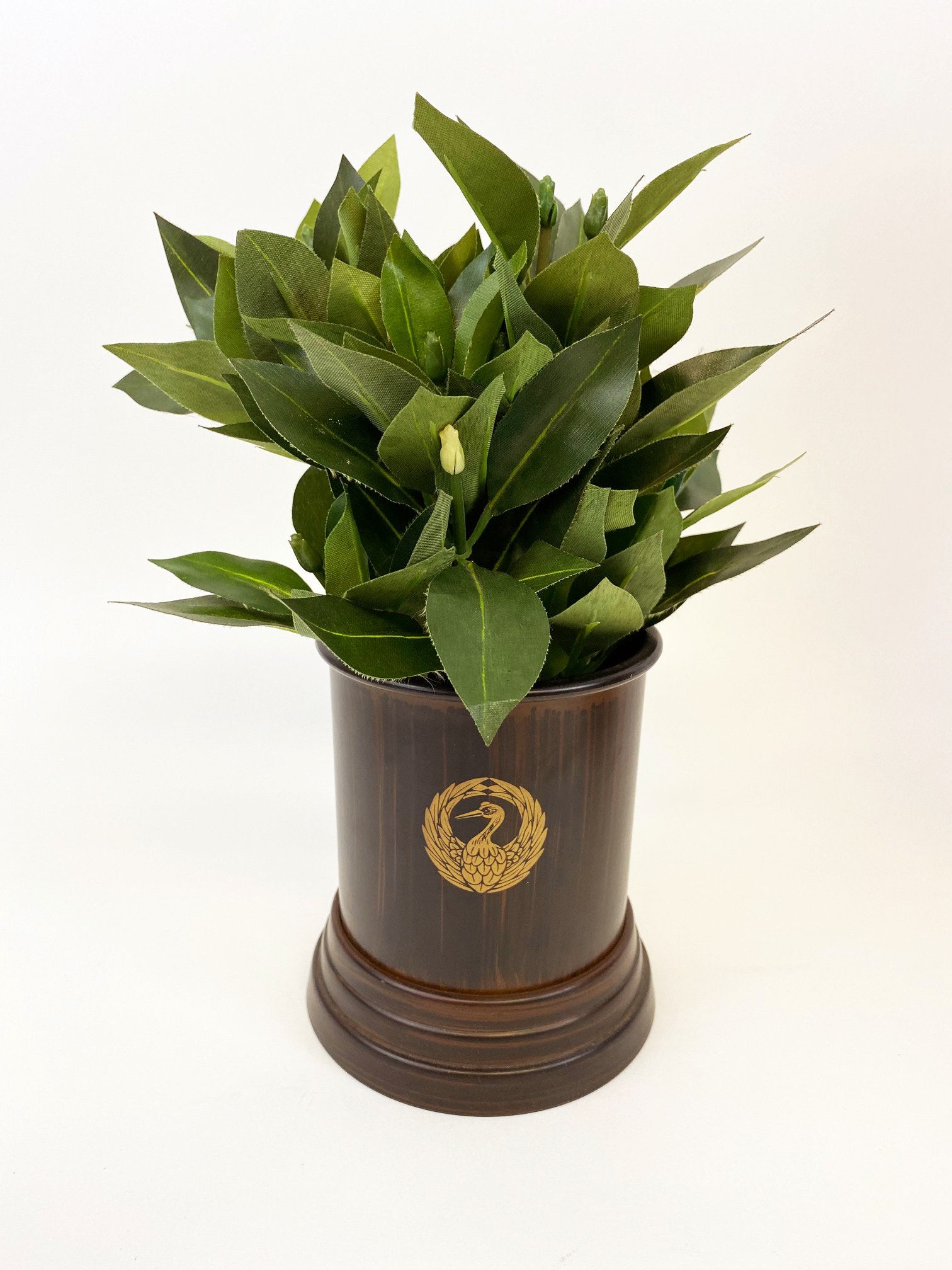 "5.5"" H Reddish Brown Colored Vase with Silk Shikimi Display Model"