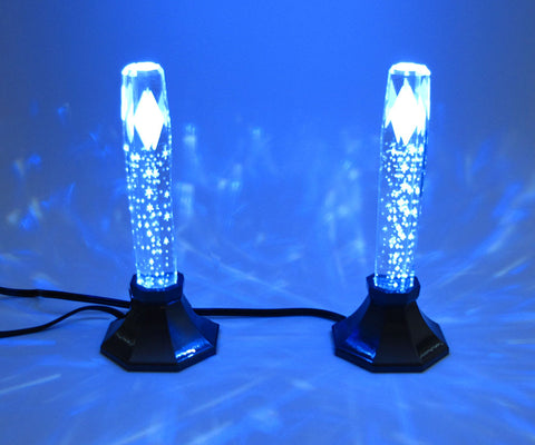 "Premium 6.75"" Tall Dual Colored (Blue or Red) LED Candlesticks"