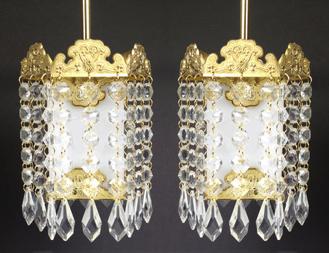 Large Crystal  Hanging Lanterns