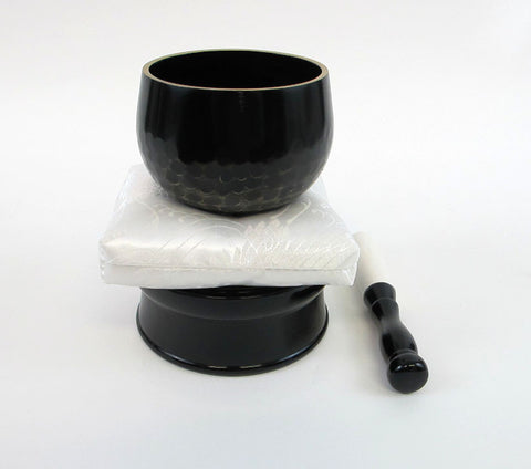 "No. 3 (3.6"" Diameter) White Cushion and Black Base"
