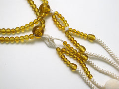 Topaz Beads with Silk Tassel