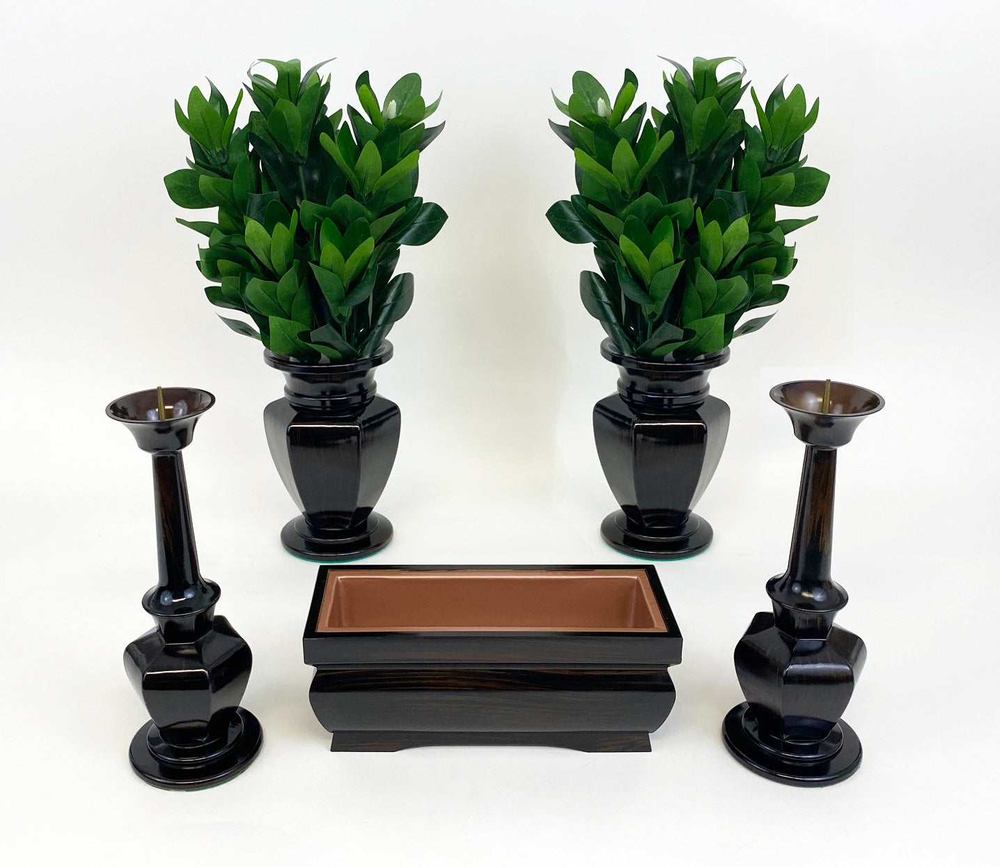 7 Piece Large Dark Ebony Butsugu Set