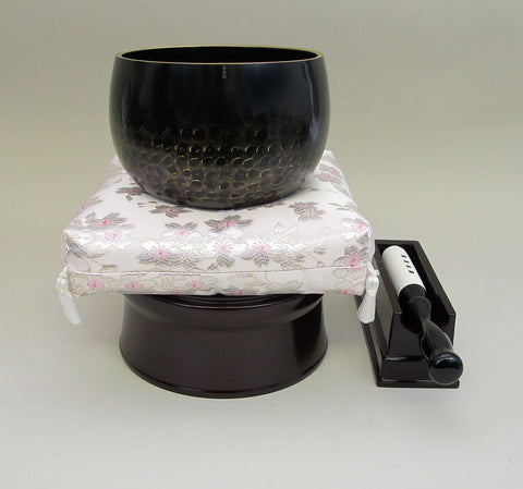 "No. 5 Bell (6.75"" Diameter) with Sakura Flower Cushion and Cherry Base"