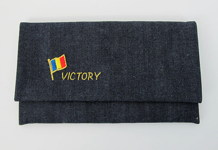 Denim with S.G.I. Victory S.G.I. Flag Beads Case (Large)