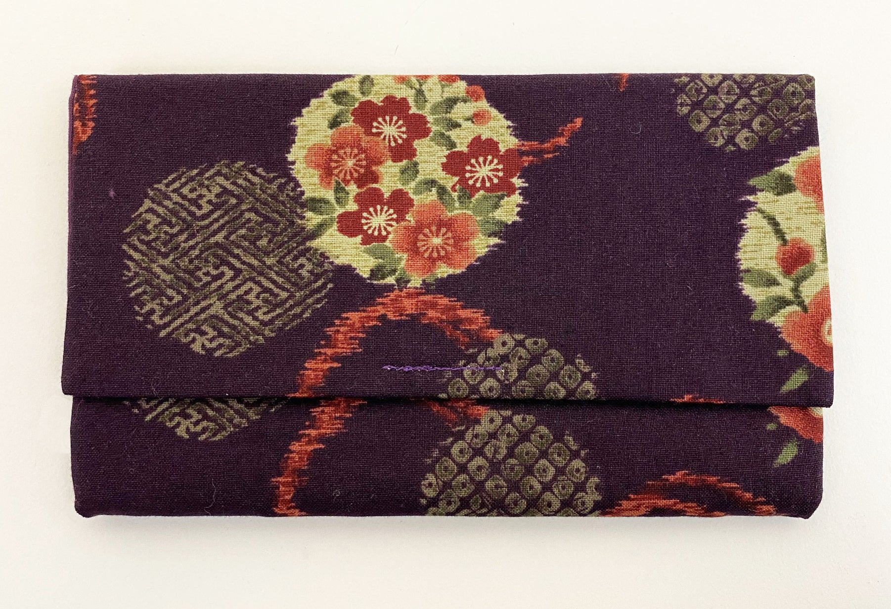 Premium Kimono Fabric Beads Case #4 (Medium)