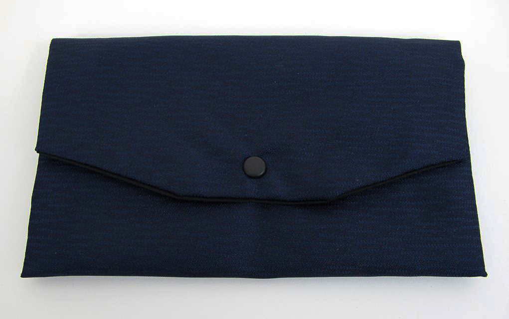 Navy Kimono Fabric Beads Case (Large)