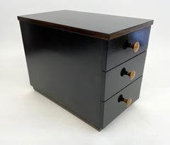 Used Ebony Wood Incense Storage Box #1