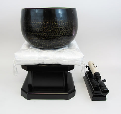 "No. 8 Bell (9.5"" Diameter) with White Cushion and Ebony Base"