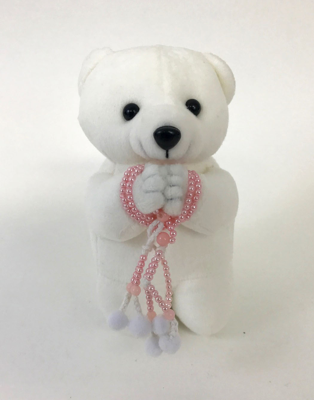 Medium White Praying Bear